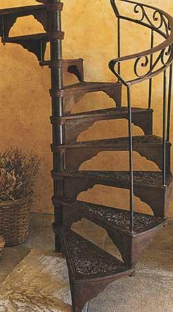 Escaliers en fer forgé