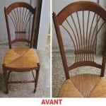 Chaise en bois Avant