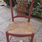 Chaise rouge terminée