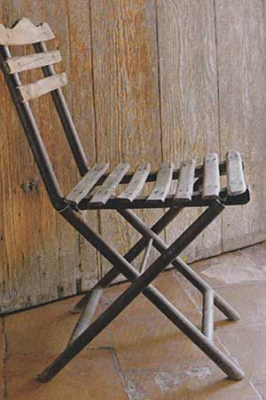 Chaise de jardin ancienne