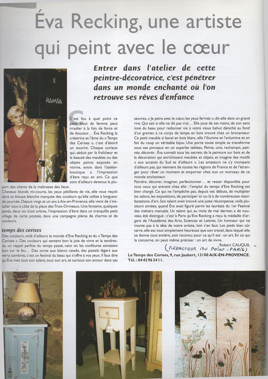 Revue de presse atelier de r novation de meubles - Le bon coin aix en provence meuble ...