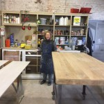 Fabienne dans son atelier