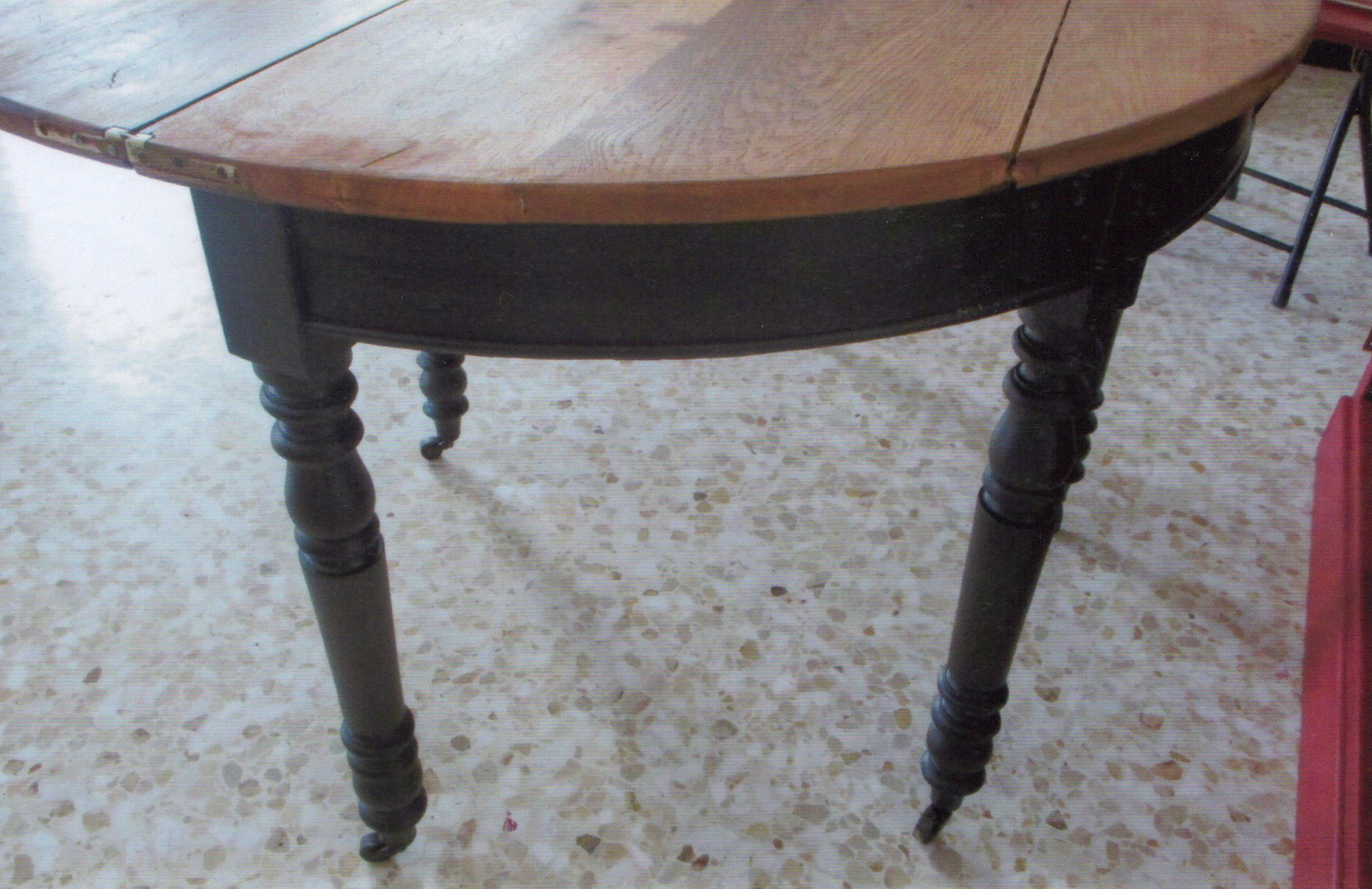 Table en chêne - Après