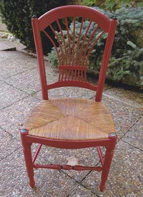 Chaise terminée