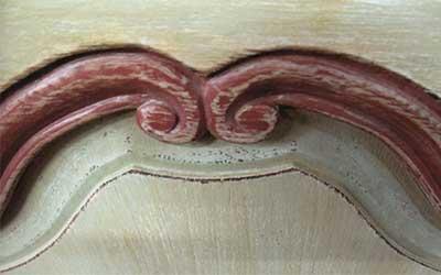Motif sculpté sur bois