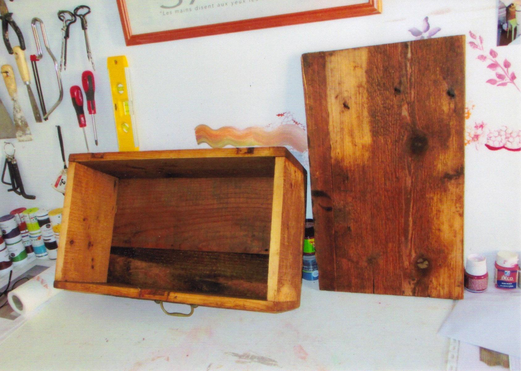 repeindre coffre en bois enfant