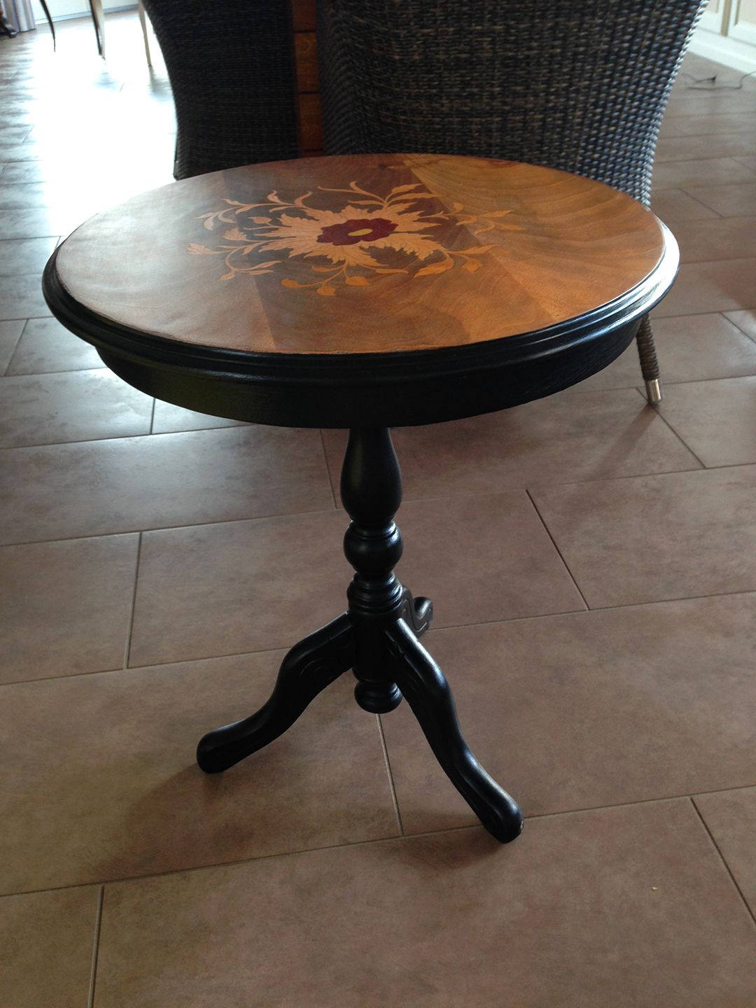 table d'appoint renovée