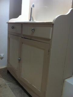 creer meuble sous vasque